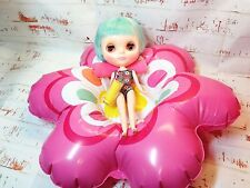 Playscale 1/6 Blythe Pullip Hujoo Barbie Retro Inflatable Pool Float Bed in Pink