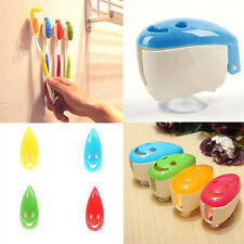 4X Portable Home Bathroom Smile Face Toothbrush Holder Cover Case Suction Cup