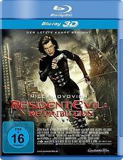 RESIDENT EVIL RETRIBUTION(SINGLE 3D)Milla Jovovich,Michelle Rodriguez BLURAY NEU