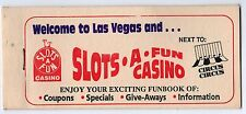 SLOTS A FUN CASINO Funbook LAS VEGAS NEVADA Gambling NV Circus Circus COUPONS