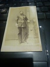BEMEDALLED WAR HERO 1870s  CARTE VISTE Leeds l