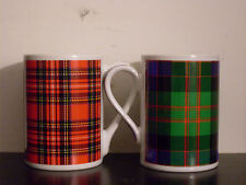 Lot of 2 Royal Stewart MacDonald Plaid Mugs