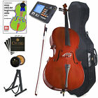 CECILIO FULL SIZE 4/4 ACOUSTIC CELLO BEGINNER w/ HARD CASE, TUNER 4/4CCO-100+HC