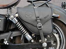 SADDLE BAG FOR HARLEY DAVIDSON DYNA STREET BOB WIDE GLIDE ITALIAN LEATHER