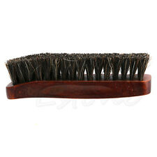 Pro Natural Bristle Horse Hair Shoe Shine Polish Buffing Brush Wooden NEW