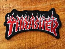 THRASHER Embroidered Patch Iron on, sew, Decorate Skateboard Sprots Extreme.