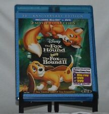 The Fox and the Hound/Fox and the Hound II (Blu-ray/DVD, 2011, 3-Disc Set, 30th