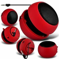 Red Portable Capsule Rechargeable Compact Speaker For EE Harrier Mini
