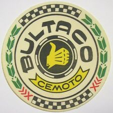 VECCHIO ADESIVO MOTO in materiale telato / Old Sticker Vintage BULTACO (cm 8,5)