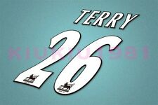 Chelsea Terry #26 PREMIER LEAGUE 97-06 White Name/Number Set