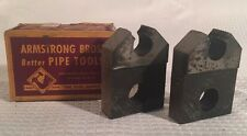 Vintage Pair Armstrong Bros. Pipe Die Threading Head 3/8 R-NPT 30 2A660