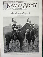 1897 ILLUSTRATED ARTICLE ~ CITIZEN PART 2 YEOMANRY SIGNALLERS OUTPOST DUTY