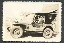 Ca 1942 RPPC* EARLY REAL PHOTO OF HOODED JEEP NOTE HEAVY DUTY TIRES SEE INFO