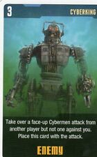 Doctor Who the Card Game 2009 c7e - 3 Art Cards; Cyberking, St.John's Monastery