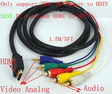 NEW 1.5M 5FT HDMI to 5RCA 5 RCA Male Audio Video Cable For HDTV 1080P