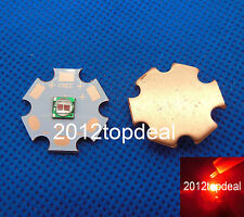 5W 5050 red 620nm 4.5-5v 2chip High Power Led Emitter with 20mm copper star