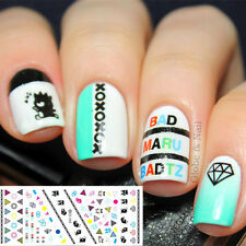 Nail Art Water Decals Transfer Stickers Geo Panda Pattern Nail Tips DS-088