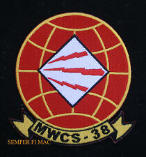 US MARINE WING COMMUNICATIONS SQUADRON MWCS 38 USMC PATCH MARINE 3D MAW MACG WOW