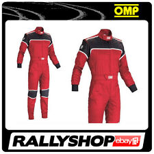 OMP Blast  Mechanic Suit  RED 52 Overalls Garage Workshop  RACE RALLY MOTORSPORT