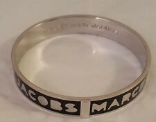 Marc By Marc Jacobs Logo Bangle -Black or Cream -  SM   M3PE609