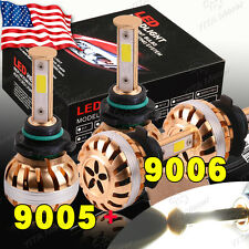 4x 9006 Low + 9005 High Beam LED Headlight Combo 200W 16000LM 6000K White Lights