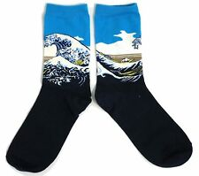 LADIES THE GREAT WAVE OFF KANAGAWA HOKUSAI SEA SURF SOCKS ONE SIZE FITS ALL