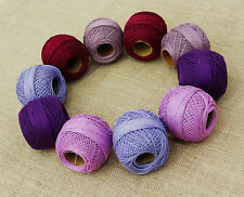Multicoloured Cotton 10 Pcs Crochet Yarn Tatting Skein Embroidery Thread