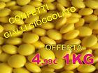 CONFETTI gialli cioccolato fondente 280 circ 1kg offerta compleanno 40 anni