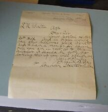 1891 Converse, Stanton & Cullen Dry Goods Business Signed Letter Philadelphia PA