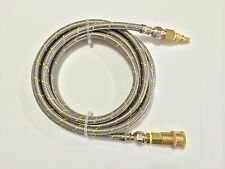RV Motorhome LP Gas 16ft Dual Quick Connect Stainless Steel Braided Hose Grill