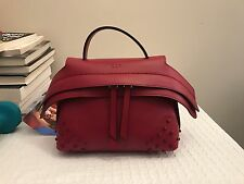 Tod's micro wave bag in burgundy