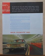 1960 magazine ad for Plymouth - photo of car in bridge tunnel, sounds worked out