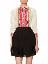TEMPERLEY LONDON Marlene Ivory Mix Shirt Size 12 RRP £265    #*1