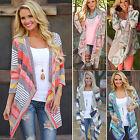 Ladies Batwing Tops Poncho Knitted Cardigan Open Front Sweater Long Jacket Coat