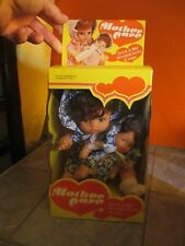 Unused Vintage MOTHER CARE Drink and Wet 2 Doll Set in PACKAGE HONG KONG