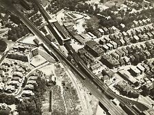 VINTAGE PHOTO AERIAL VIEW FOREST HILLS BOSTON RAILROAD TRA USA PRINT LV4810