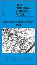 MAP OF ALLENDALE & HEXHAMSHIRE 1866
