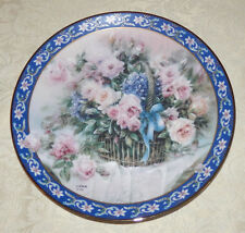 ROSES Plate By LENA LIU 1st Edition Basket Bouquets WS GEORGE