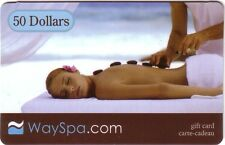 WaySpa Gift Card NO $Value ------- 0 ----BALANCE Collectible reloadable NEW !