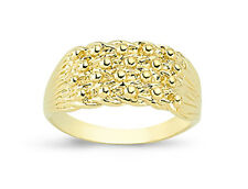 9ct oro solido Keeper 4 RIGA Shot NODO BAND RING Scatola Regalo