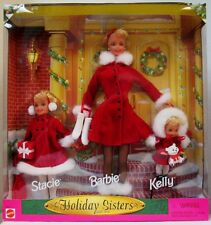 Holiday Sisters Barbie Gift Set (Includes Barbie, Stacie and Kelly Dolls)(New)