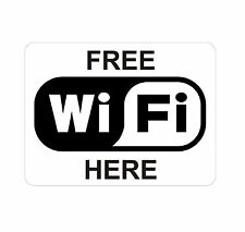 Free Wifi Here Sticker Decal Graphic Vinyl Label