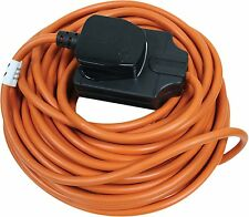 1GANG 10 METRE ORANGE SOCKET 10M OUTDOOR WEATHERPROOF POWER SOCKET
