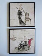 Paris Ladies wall decor plaque bedroom bathroom French bed & bath pictures