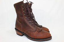 DURANGO BOOTS KILTIE LACE UP COWBOY WESTERN WOMEN'S SIZE 9 BROWN LEATHER #RD535