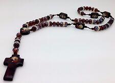rosario de san Benito. con cristal cafe y son hechos a mano