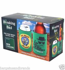 Breaking Bad Pk of 2 Beer Coolers For Bottles & Cans Great Fathers Day Gift BBQ