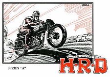 1937 Vincent HRD Series A motorcycles poster