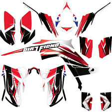 DFR TWIST GRAPHIC KIT WHITE/RED FULL WRAP 06-08 YAMAHA RAPTOR RAPTOR700 700