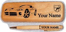 Dodge Viper Late Model Maple Wood Pen Case Engraved